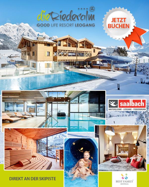Hotel Die Riederalm - Familienhotel Piste Skiurlaub Leogang
